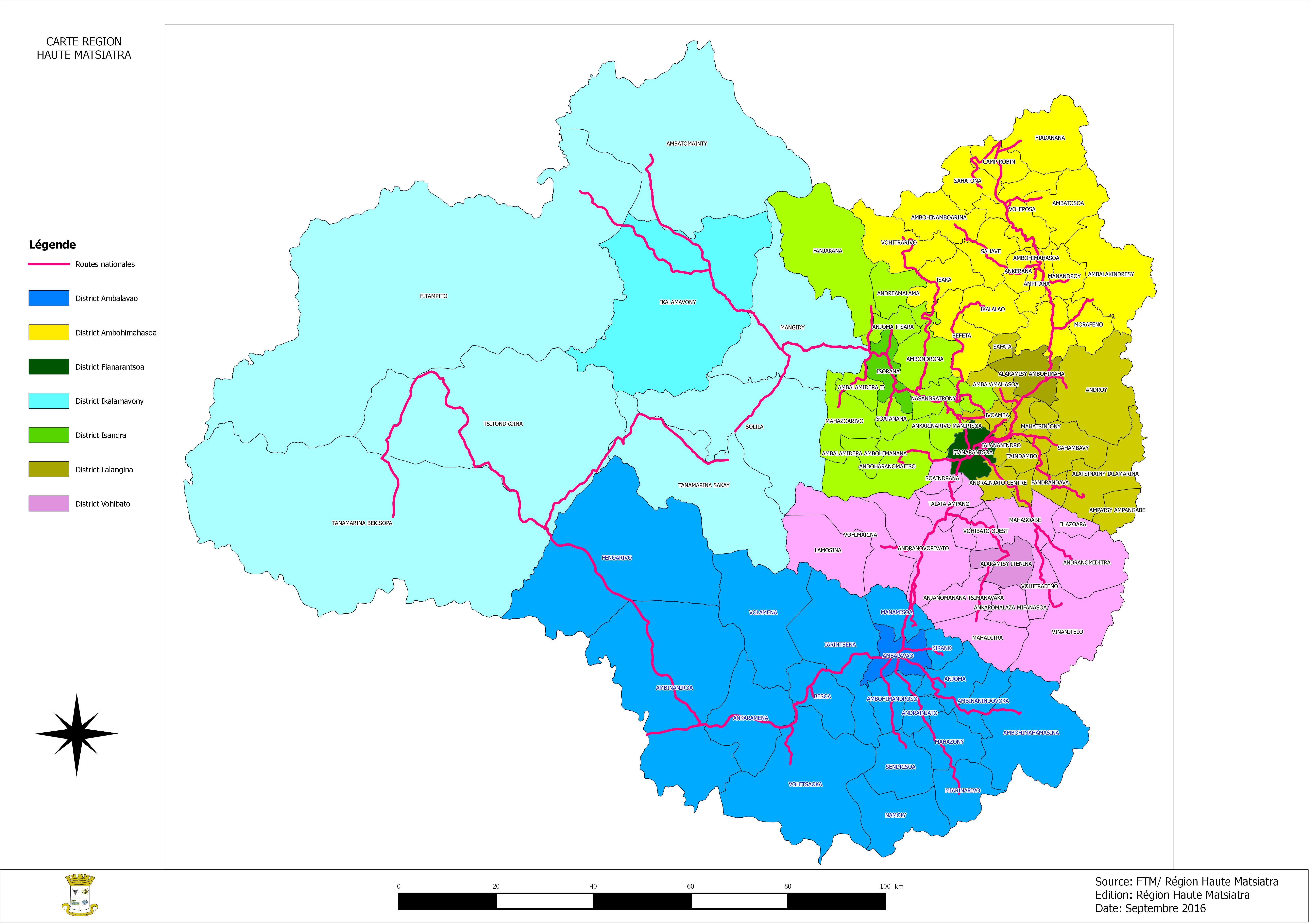 Carte Région Haute Matsiatra