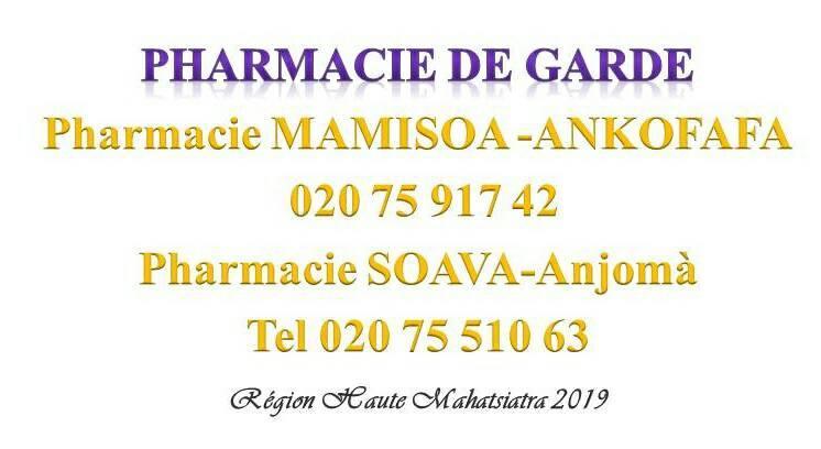 Pharmacie de garde jusqu'au 08 décembre 2019