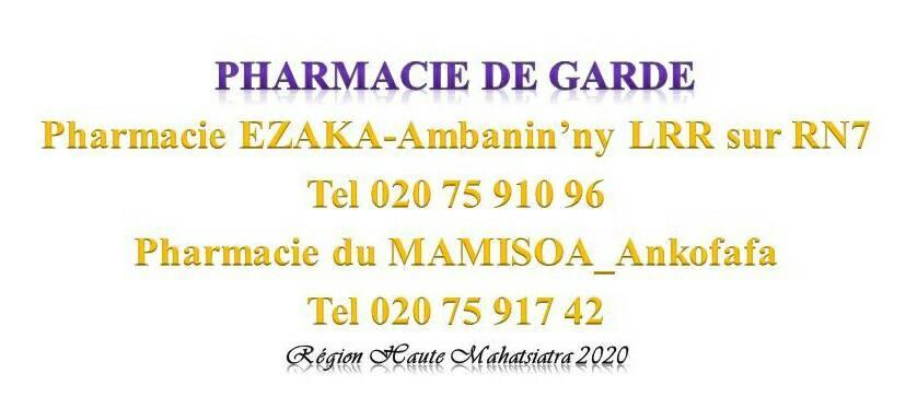 Pharmacie de garde jusqu'au 25 janvier 2020