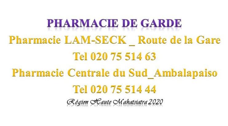 Pharmacie de garde jusqu'au 14 mars 2020