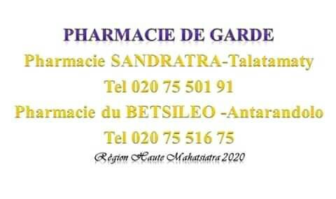 Pharmacie de garde jusqu'au 23 mai 2020