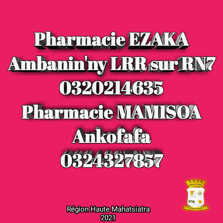 Pharmacie de garde jusqu'au 10 avril 2021